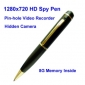Wholesale 1280*720 HD Spy Pen Digital Video Recorder with 8G Memory PinHole Camera